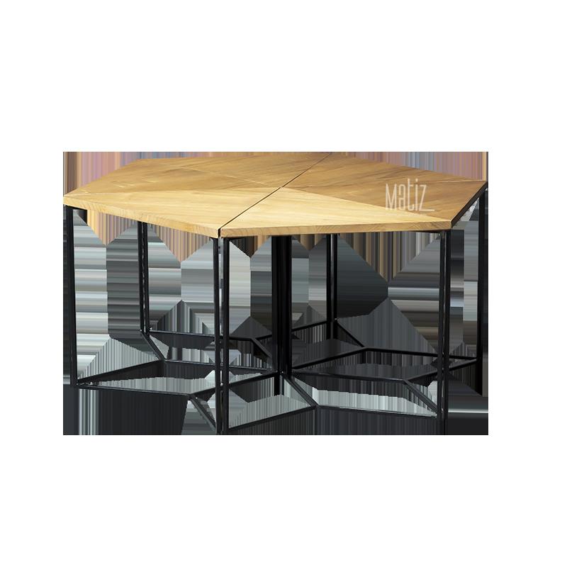 HEXA Coffee Table, Set of 6-1