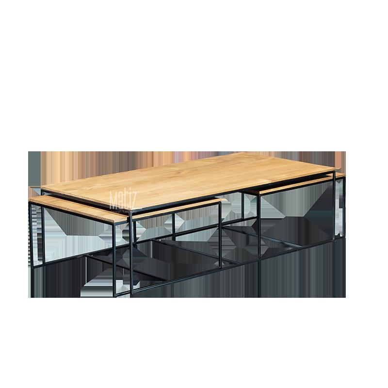 SPLIT Coffee Table, Set of 3-1