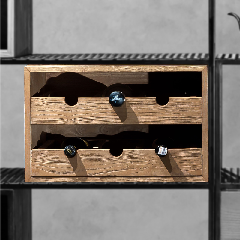 DAMA 2 Drawers Bottle Rack Box 1